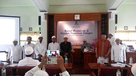 HM. Saifullah Naji Sekretaris Umum meresmikan pelantikan panitia hari jadi Pondok Pesantren Sidogiri ke-278