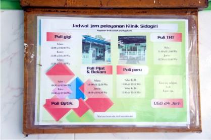 Jadwal jam pelayanan klinik Sidogiri ini sudah disebarkan ke asrama-asrama santri untuk memudahkan mereka dalam berobat