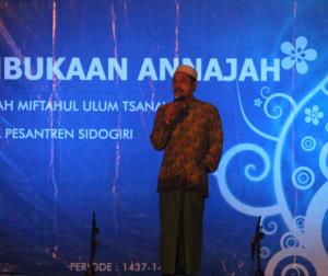 Kabar Gembira: Kepala MMU tingkat Tsanawiyah saat menyampaikan sambutannya.