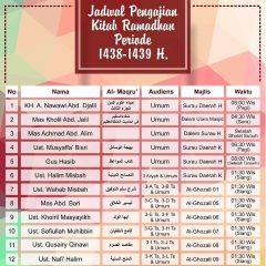 Jadwal Pengajian Kitab Ramadhan 1439 H