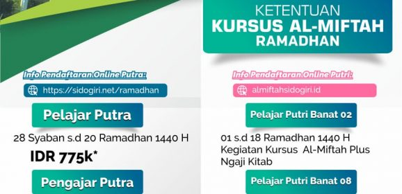 Kegiatan Ramadhan Pondok Pesantren Sidogiri