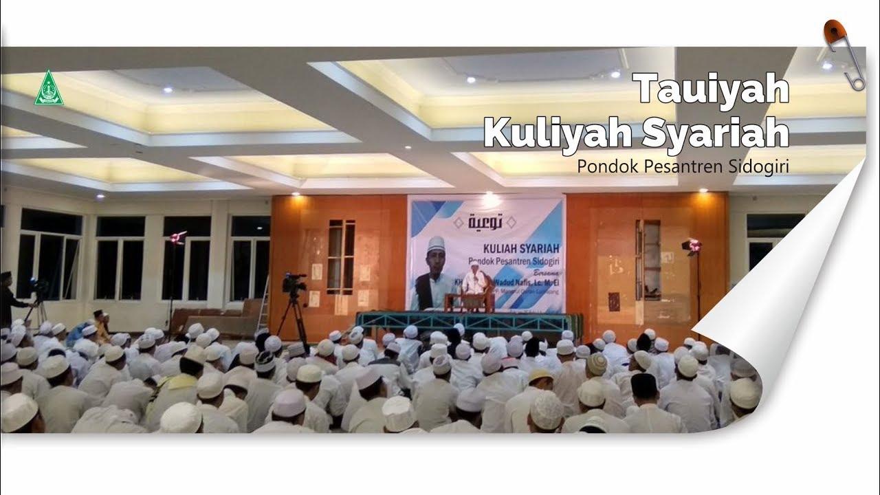 Dalam Kegiatan Tauiyah beberapa hari yang lalu telah diberitahukan akan dimulainya Musyawarah tingkat Aliyah.