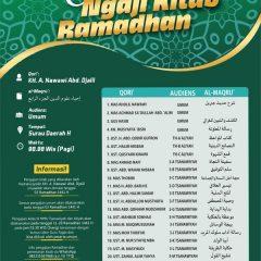 Jadwal Ngaji Kitab Ramadhan 1441