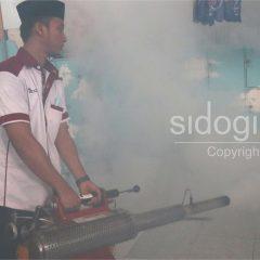 Cegah DBD, Klinik Sidogiri Fogging Seluruh Area Pesantren