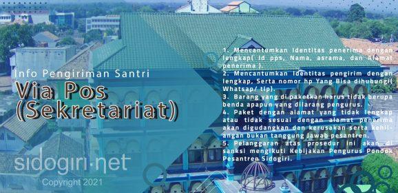 Info Pengiriman Santri Via Pos (Sekretariat)